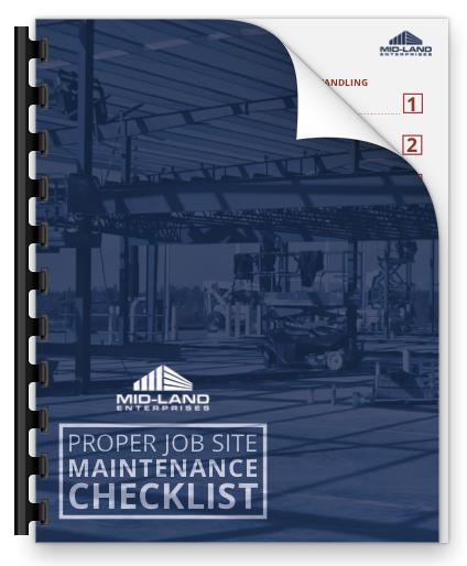 Proper Job Site Maintenance Checklist